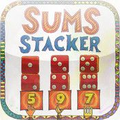 **Sums Stacker. Move around the numbers (represented as dice, fingers, ten frames, etc.) to create to correct sum in each column.