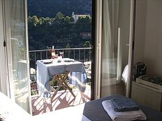 Balcony leading off the bedroom in our little Ligurian bolthole Holiday Apartments, Rental Apartments, Outdoor Furniture Sets, Outdoor Decor, Balcony, Villa, Bedroom, Home Decor, Italy