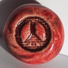 PEACE SIGN Magnet   Oxblood Red Art Glaze  by InnerArtPeace, $6.00