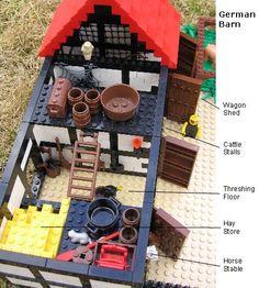 Farm floor plan for barn Lego Projects, Projects To Try, Lego Burg, Lego Advent, Small Barns, Lego Duplo, Lego Moc, Lego Modular, Cool Lego Creations
