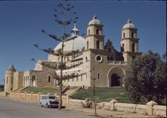 135874PD: St Francis Xavier Cathedral, Geraldton, ca 1955 http://encore.slwa.wa.gov.au/iii/encore/record/C__Rb2908397?lang=eng