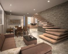 Home Stairs Design, Interior Design Living Room, House Design, Room Interior, Stairs In Living Room, House Stairs, Luxury Homes Dream Houses, Modern House Plans, Elegant Homes