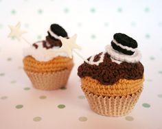 Chocolate and cream with Oreo crochet mini cupcake. by iamamess, €12.00