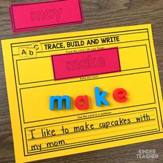 Differentiated Sight Word Activities – A Kinderteacher Life Sight word activity – trace the sight word with your finger, build it and use it in a sentence Teaching Sight Words, Sight Words List, Sight Word Games, Sight Word Activities, Teaching Math, Teaching Activities, Teaching Ideas, Kindergarten Special Education, Kindergarten Reading
