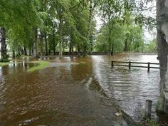 River Deveron bursts its banks after we catch the tail of Hurricane Bertha and get a months rain in 1 day, August 2014