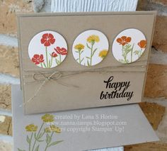 Stampin' with Nanna: Wild About Flowers, Card 2
