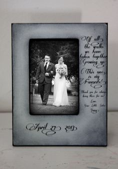 Brother giving Bride away Wedding Frame Bride by DeSiLuCoLLecTioN, $48.00