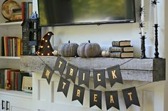 Boo! Halloween Mantel Decor — Decor and the Dog