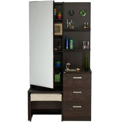 wall unit with mirrored dresser - Google Search