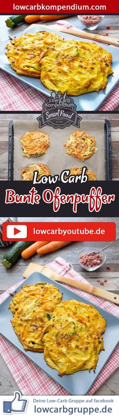 Bunte Ofenpuffer – Schnelle Puffer frisch aus dem Ofen 👍🏼😍 Colorful Oven Buffer Low-Carb Recipe – Quick Buffer Fresh from. Easy Salads, Healthy Salad Recipes, Low Carb Recipes, Healthy Snacks, Quick Recipes, Healthy Nutrition, Healthy Eating, Avocado Dessert, Avocado Toast