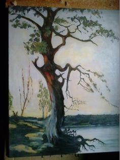 Mänty rannalla, kopio Fanny Churberg Paintings, Oil, Paint, Painting Art, Painting, Painted Canvas, Drawings, Grimm, Butter