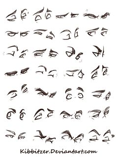 Eyes Reference Sheet by *kibbitzer