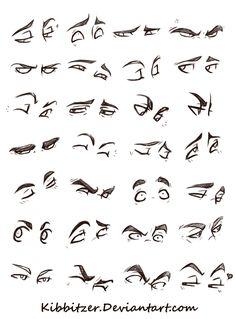 Eyes Reference Sheet by *kibbitzer