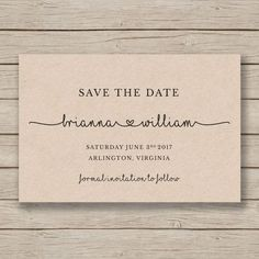 Save the Date Printable Template - EDITABLE by YOU in Word - DIY wedding - rustic save the date card - print on Kraft - instant download