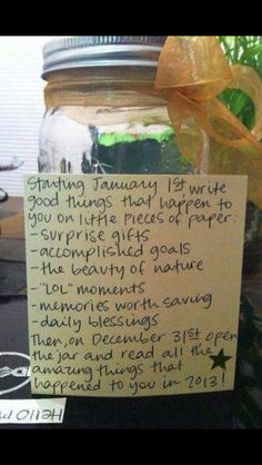 2014 Memory Jar--Just started to make one for the year. I'm unnaturally excited about it!