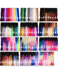 Precise Xccoco Kanekalon Synthetic Ombre Braiding Hair Jumbo Braids Crochet Hair Extention Blue Pink Purple Fiber 24 100g 1pcs Jumbo Braids