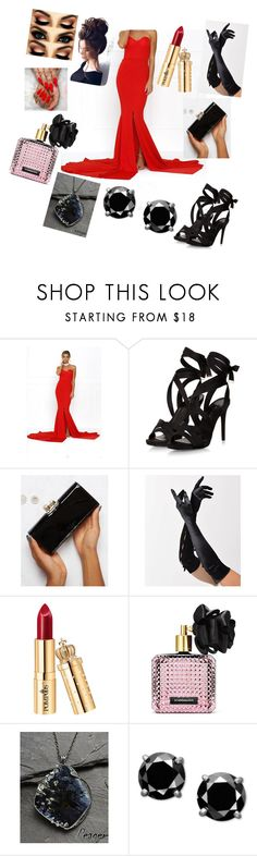 """Red and black...."" by elafkhan ❤ liked on Polyvore featuring Ted Baker, Bettie Page, Victoria's Secret and Gerber"