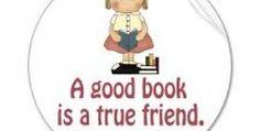 Book is like a friend.