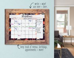 This custom calendar is the perfect tool to keep your organized this year! It is custom made just for you and you can choose from so many different designs to match your own home decor! This custom calendar will keep you organized and ready to make 2017 the best year yet!