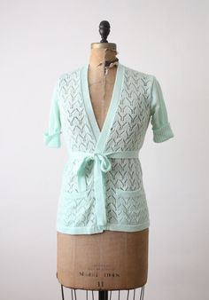 vintage mint wrap cardigan