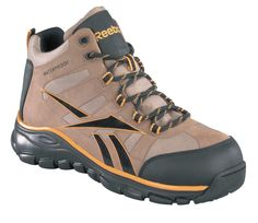Reebok Mens Dark Tan Micro Mesh Seamless WP Hiker Boots Arion Comp Toe