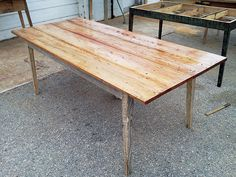 Beautiful Dining Table Made From Reclaimed Wood By Landrum Tables Charleston SC