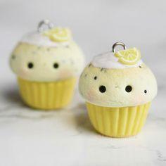 Kawaii Lemon Poppyseed Cupcake Charm
