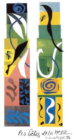 Las bestias del mar, por Henry Matisse