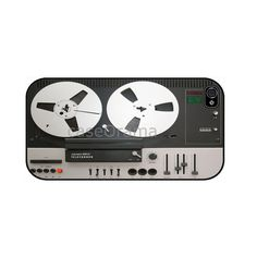 Retro Tape Recorder Rubber iPhone Case by caseOrama