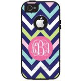 Monogram iPhone 5/5S/5C OtterBox Defender Case - Chevron Multi | Three Hip Chicks #defender #designyourown #chevron #otterbox #monogramotterbox #monogramcellphonecase #threehipchicks