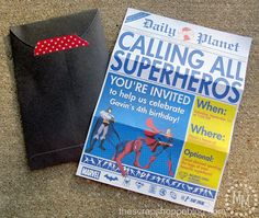 Superhero Newspaper Custom PRINTABLE Birthday por MMScrapShoppe