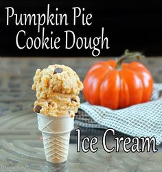 Pumpkin Cookie Dough Ice Cream