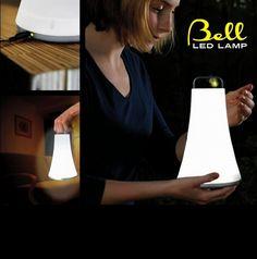 lampada DE-LITE BELL a batteria ricaricabile con cavetto USB   info@aranciocollection.it