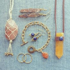 Handmade raw crystal jewellery by Marlee Cheyanne Watts   https://www.etsy.com/ca/shop/MarleeCWatts?ref=si_shop