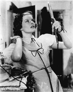 """Katharine Hepburn in """"Alice Adams""""   dress is Hollywood 1020 pattern"""