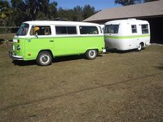 Neon green VW with matching boler. | Van | Pinterest | Neon Green ...