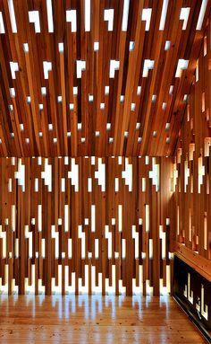 madera vacio Wooden Lace by Masaki WATASE architecture, Kumamoto, Japan Wooden Architecture, Facade Architecture, Amazing Architecture, Contemporary Architecture, Installation Architecture, Kumamoto, Facade Design, Wall Design, Wc Decoration