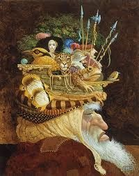 James Christensen - Old Man With A Lot On His Mind