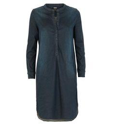 Summum black denim tuniek. Deze korte jurk is gemaakt van een soepele stretchdenim met een used wash.