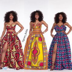 Grass Fields matching sets are an incredible example of modern African fashion. Whether you wear them together or apart, you'll always look and feel awesome. African Print Dresses, African Wear, African Attire, African Dress, African Prints, African Style, African Outfits, Chitenge Dresses, Chitenge Outfits