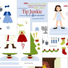 WINTER HOLIDAY PAPER DOLL PRINTABLE {FREE PRINTABLE}
