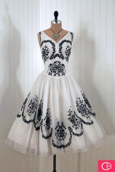 Cute black and white beaded dress