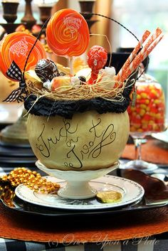Once Upon a Plate: Halloween Greetings ~ Tablescape Thursday