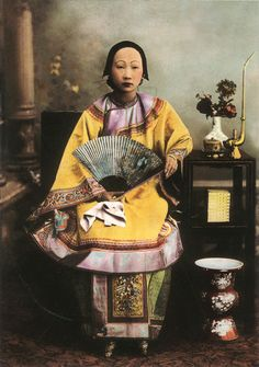 jeannepompadour:  Portrait photograph of a Chinese woman, 19th century