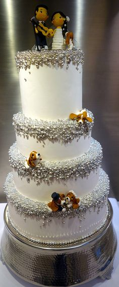 "dragee wedding cake     By: Little ""Miss"" OC's Kitchen   Flickr - Photo Sharing!"