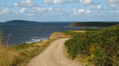 The road near Broad Cove - Inverness County.  Cape Breton, Nova Scotia Canada.