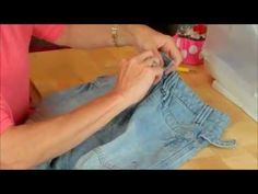how to replace a zip in a pair of jeans by Debbie Shore