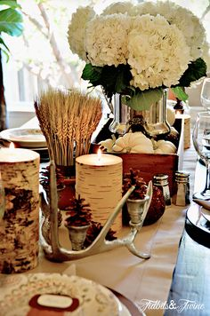 Tidbits & Twine - Creating a fall tablescape.