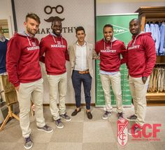 #GranadaCF players try out @makarthycc clothing the team will sport this year. Gallery: https://www.facebook.com/GRANADACF.es/photos/a.958492544210889.1073742075.191397207587097/958492804210863/?type=3&theater …