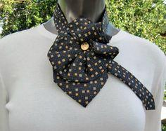 Ladies Necktie Scarf Necktie Necklace Up-cycled by JudysLittleShop